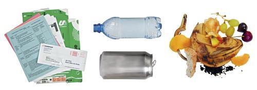 Обычный состав офисного мусора