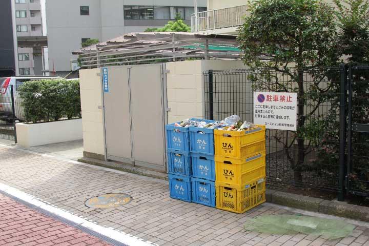 Помещение для сбора мусора и вторичных ресурсов в Токио