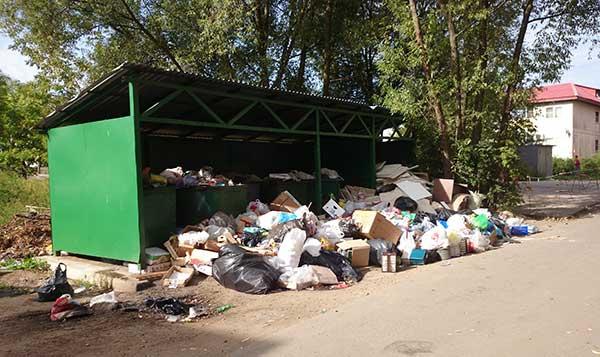 Контейнерная площадка для сбора твердых коммунальных отходов