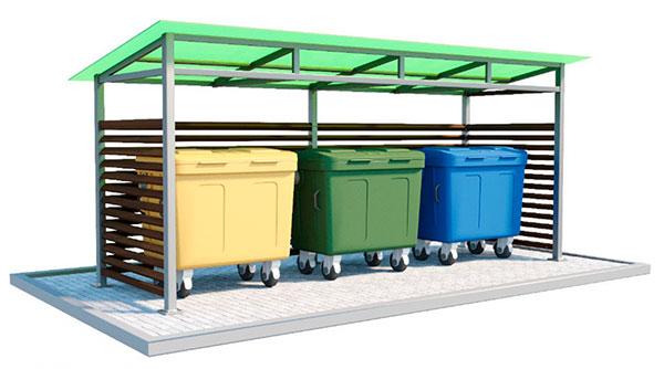 Проект крытой контейнерной площадки для сбора твердых коммунальных отходов